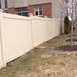 Eco friendly PVC backyard fence