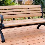 Outdoor garden WPC bench