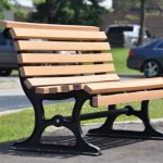 Park outdoor WPC bench