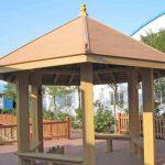 Antiseptic wood-plastic pavilion