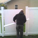 Community garden PVC fence installation