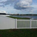 Corrosion Resistant PVC patio fence