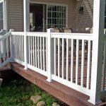 Corrosion resistant balcony PVC railings