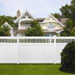 High fireproof private courtyard PVC fence