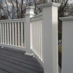 Impact-resistant PVC balcony railings