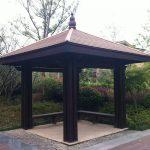 Low maintenance WPC pavilion