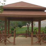 Waterproof wood-plastic pavilion