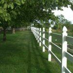 Park landscape pvc railings