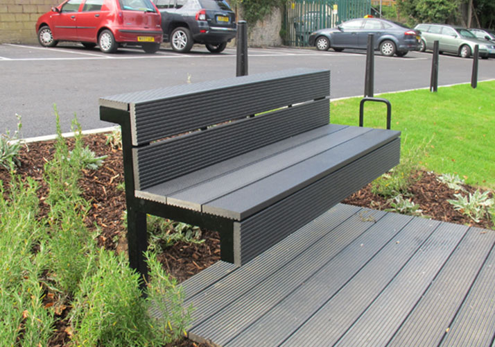Anti-corrosion wood-plastic bench