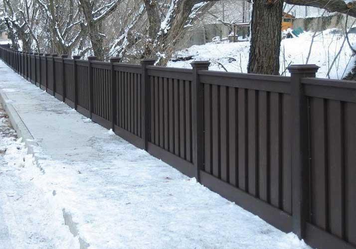 Park wood-plastic fence