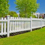 Beautiful outdoor PVC fence decoration